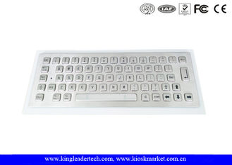 IP65 Rating Metal Kiosk Industrial Mini Keyboard With 64 Metal Compact Keys