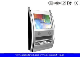 TFT LCD Display Fashionable Wall Mount Kiosk Wth Rugged Metal Keyboard